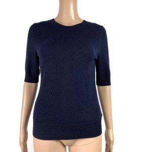 ⭐️ Banana Republic Sweater Metallic Weave Back Zip